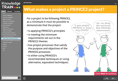 PRINCE2 Foundation eLearning Course by Knowledge Train